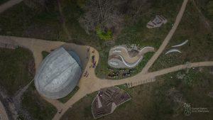 Pawilon Edukacyjny Kamień - widok z góry