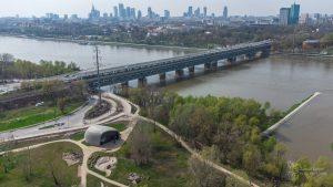 Panorama Wisły, Pawilonu Edukacyjnego Kamień i Mostu Gdańskiego