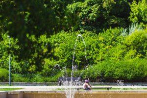 Fontanna w Parku Agrykola
